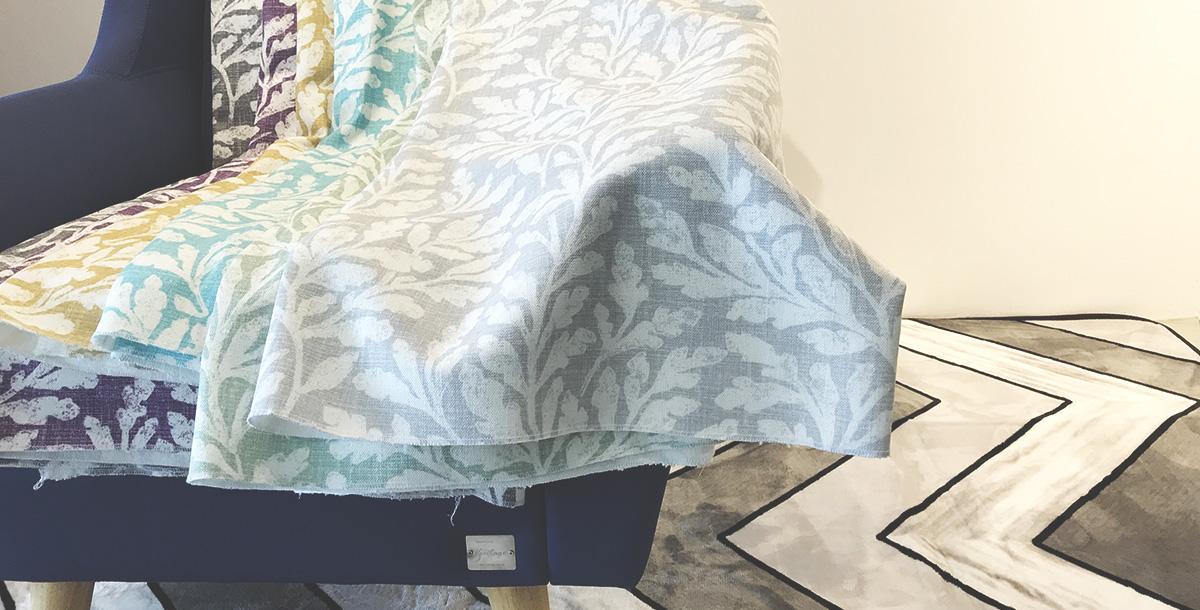 Fabric on the armchair