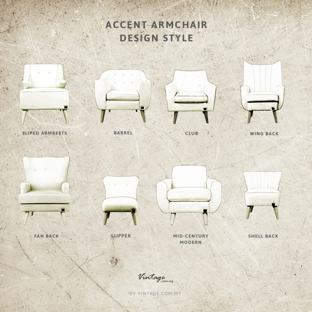 Accent armchair design style