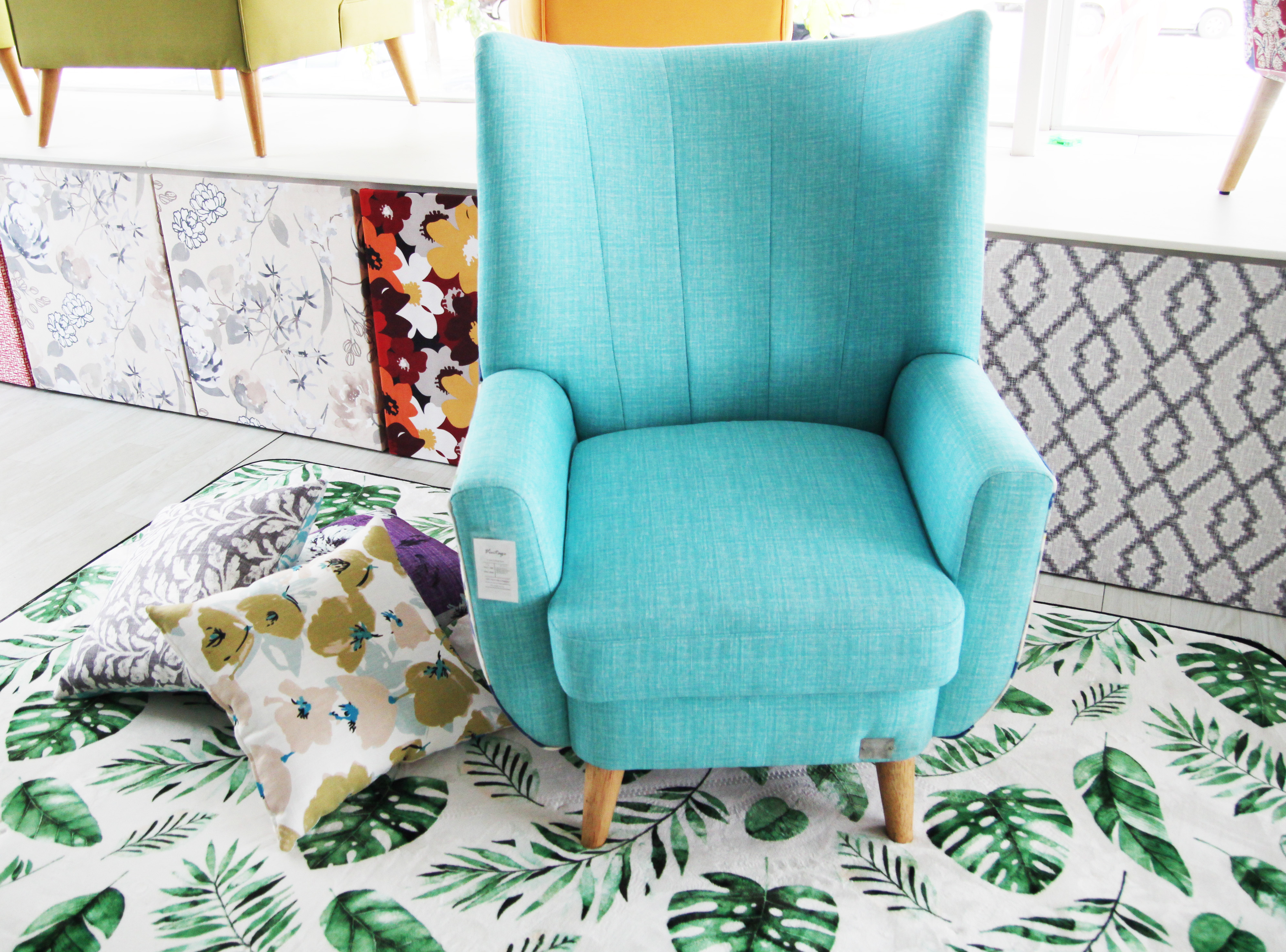 Vintage Evelyn high back armchair